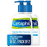 Face Wash by Cetaphil, Hydrating Gentle Skin Cleanser for Dry to Normal Sensitive Skin 16 oz Pack of 2, Fragrance Free and No