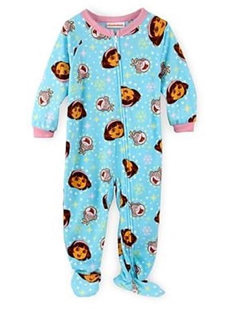 254d471b0b9b Amazon.com  Dora Infant Girls Zip Up Footed Microfleece Blanket ...