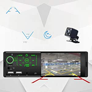 COODIO 4.1 Inch Touch Screen Dual USB Car Bluetooth MP5 Player Card Radio Host Colorful with Camera Special Electronic Accessories