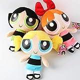 Skpitin Plush 3 Pcs 20CM the Powerpuff Girls Plush Doll Bubbles Flower Stuffed Toys