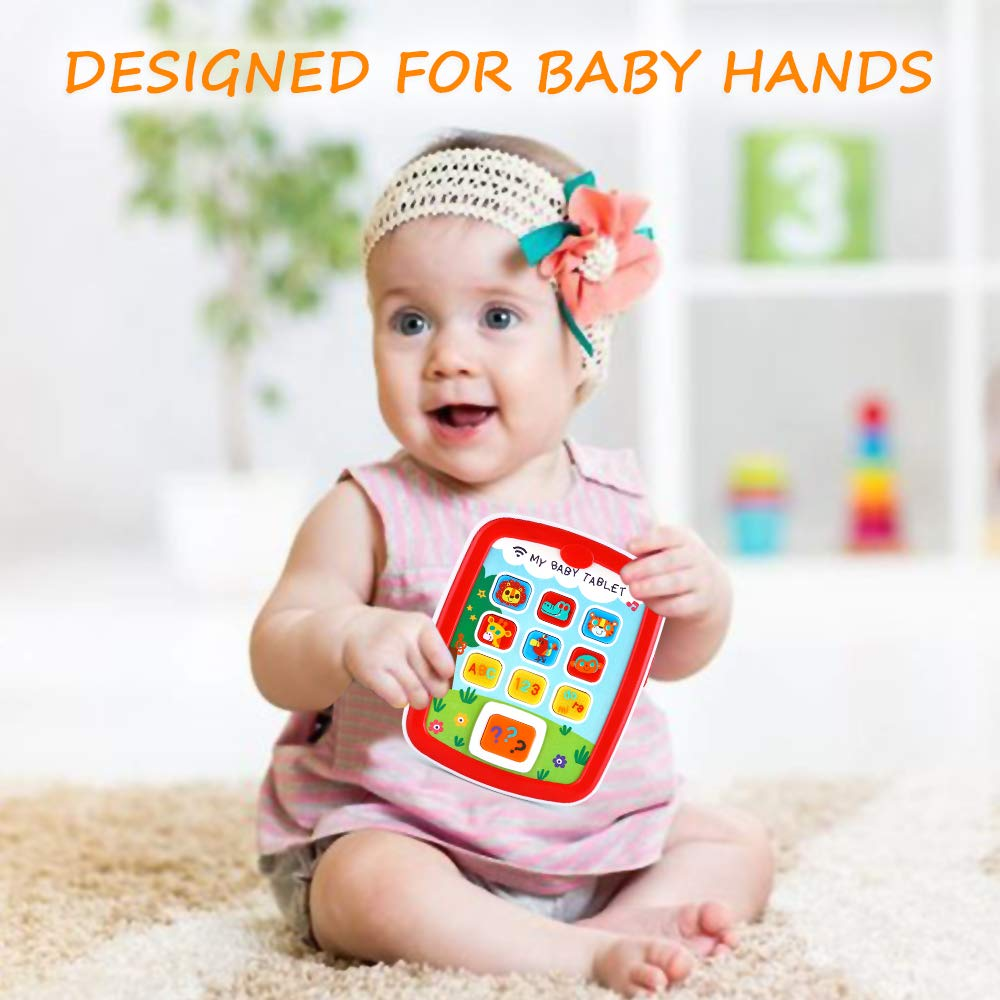 Infant Toys Baby Tablet Toys Learning Educational Activity Center for 6  12  18 Month up Boys and Girls with Music Light ABC Numbers Color Games Baby Toys for First Birthday by INSOON (Image #3)