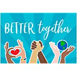 """Better Together Unity Yard Sign / 18"""" x 12"""" Inspirational Outdoor Sign/Spread Kindness Plastic Sign"""
