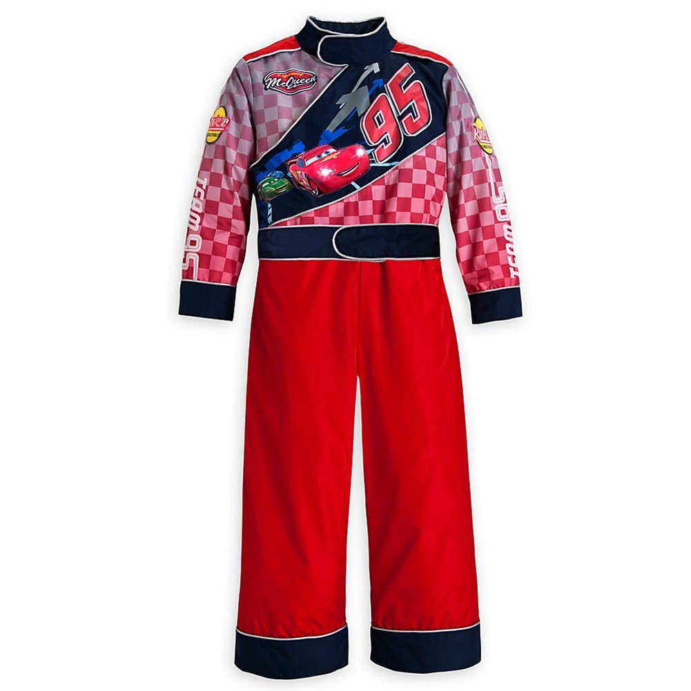 Disney Store Cars Lightning McQueen Costume Light-Up Racing Suit Size XS 4 (4T)