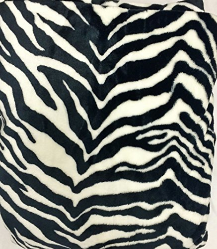 WPM's Queen Blanket Sumptuously Soft Plush Flannel Mega Throw/reversible Bedspread Jungle Animal leopard zebra print Rio (BlackWhite Zebra)