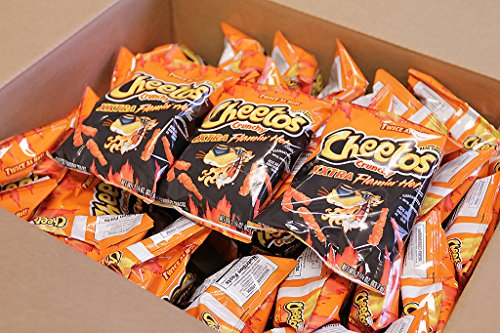 Cheetos XXtra Flamin' Hot Crunchy 2.25 Oz (Pack of 17) (50 Hot Cheetos)