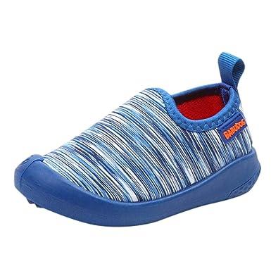 bf98c442264e Zapatos de bebé, ASHOP Niña Niño Moda Casuales Zapatillas del Otoño  Invierno Playa Lona Rayas Deporte Antideslizante del Zapatos 0-4 Años:  Amazon.es: Ropa y ...