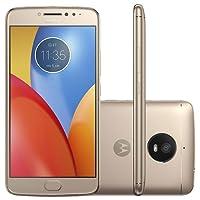 "Smartphone Motorola Moto E4 Plus Flash frontal Dual Chip Tela 5.5"" Quad-Core 1.3GHz 16GB 4G 13MP - Ouro/ Gold bateria 5000Mah leitor digital OFERTAAA!!"