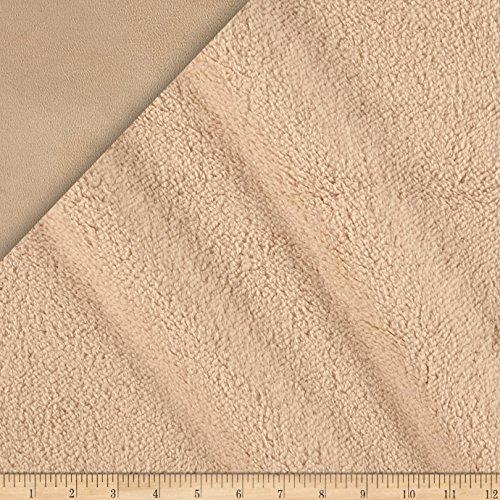 Minky Suede Sherpa (Shannon Fabrics Minky Bonded Cuddle Yard, Sand)