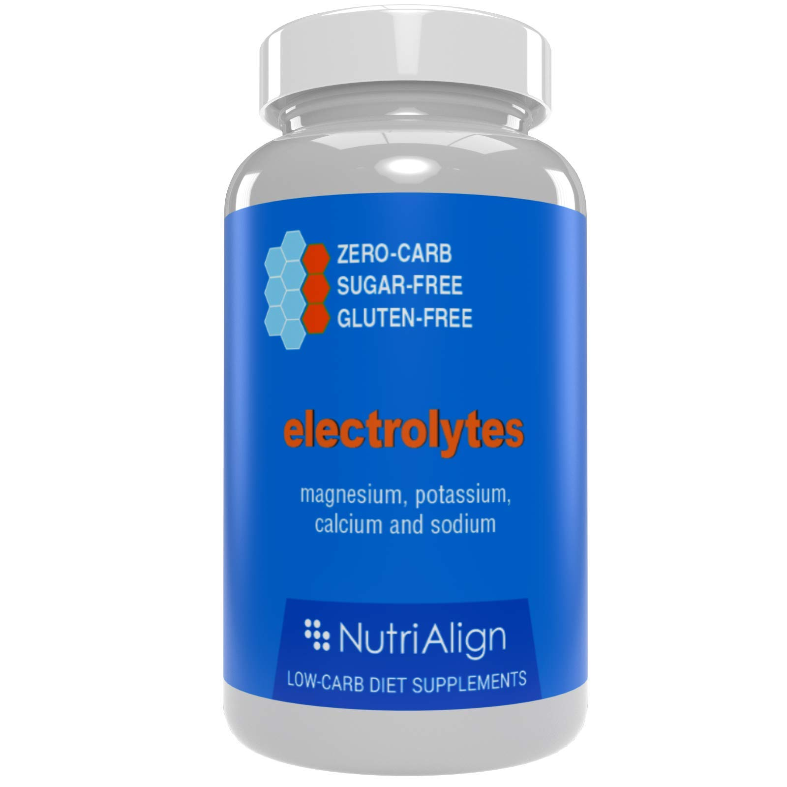 Nutri-Align Electrolytes: Magnesium, Potassium, Calcium, Sodium. Maintain Healthy Electrolytes Balance for Smooth Keto Adaptation. Sugar-Free, Gluten-Free, Zero-carb. 90 Capsules.