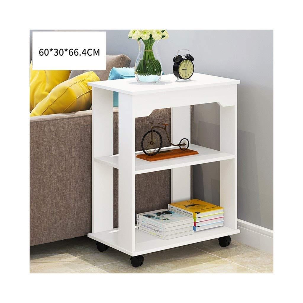 LQQGXLBedside Table Rectangular Side Table Multi-Function 360° Lockable Universal Wheel Modern Minimalist Side Cabinet Living Room Bedroom Creative Bedside Table Small Side Table (Color : 3) by LQQGXL