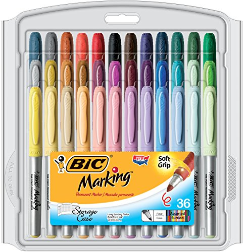 BIC Marking Permanent Assorted 36 Count