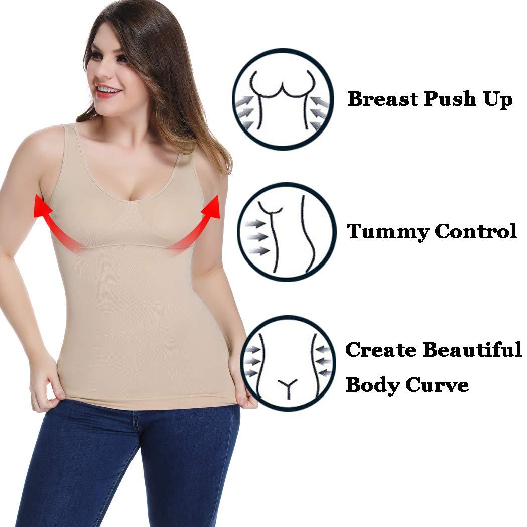 Joyshaper Shaping Control Vest Tops for Women Cami Camisole Slimming Tummy Control Compression Tank Shirt Padded Seamless Body Shaper Shapewear Underwear