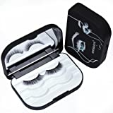 Strip Lash Box Organizer Storage False Eyelash Plastic Lash Case With Mirror Custom Eyelash Box Packaging Makeup Storage