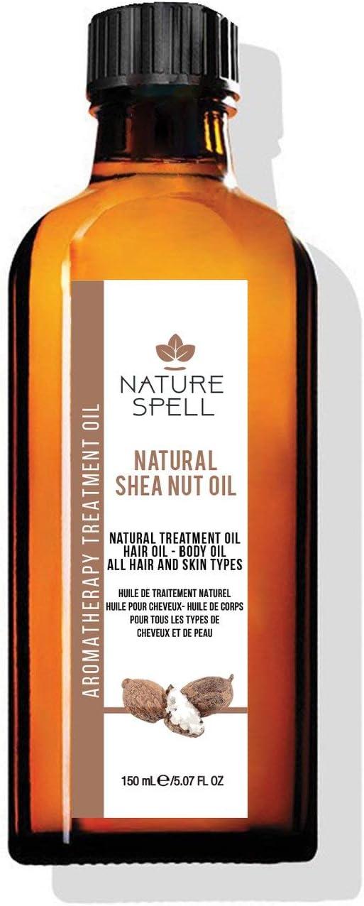 Nature Spell Aceite para tratamiento de nueces de karité para cabello y cuerpo, 150 ml