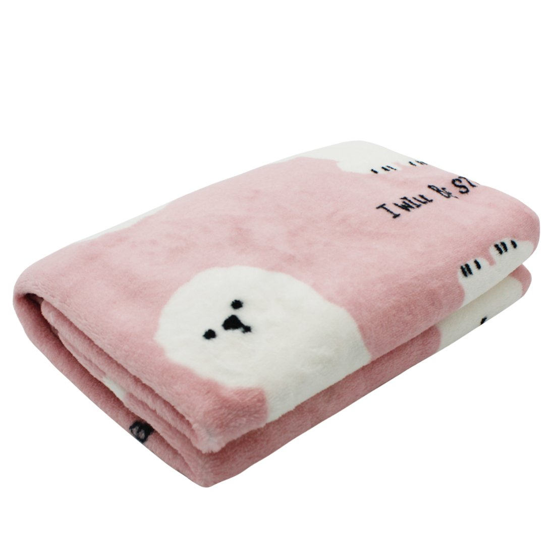 Scheppend Cozy Cuddly Pet Fleece Blanket Dogs Cats Bed Throws for Couch,Car Backseat,Crate,Kennel and Carrier(Bichon)