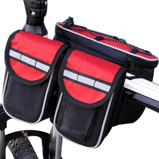 EisEyen - Bolsa para sillín de Bicicleta, 4 en 1, multifunción ...
