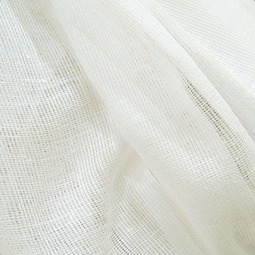 10 Yards White Tobacco Cloth Natural Cotton Fabric Lightweight for Wedding Decor by JCS