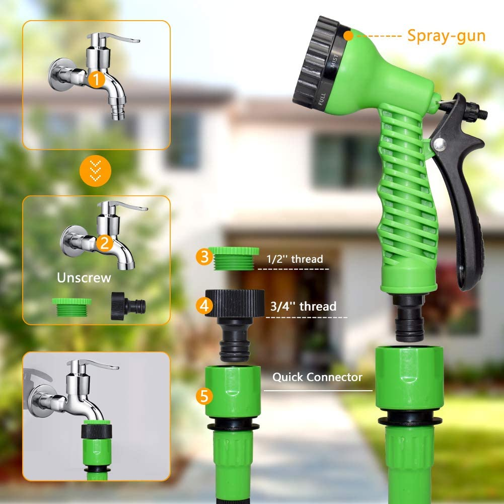 Durable Pipe Fitting Tap Quick Connector Spray Water Sprayer And Hose Pipe H