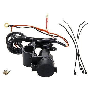 CARCHET® Adaptador Cargador 2 USB Universal para Motos Coches Negro [Electrónica]