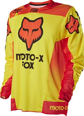 Amazon.com  Fox Racing 360 40 Year LE Men s Dirt Bike Motorcycle Jerseys -  Yellow   Small  Clothing 68d4b7e8a