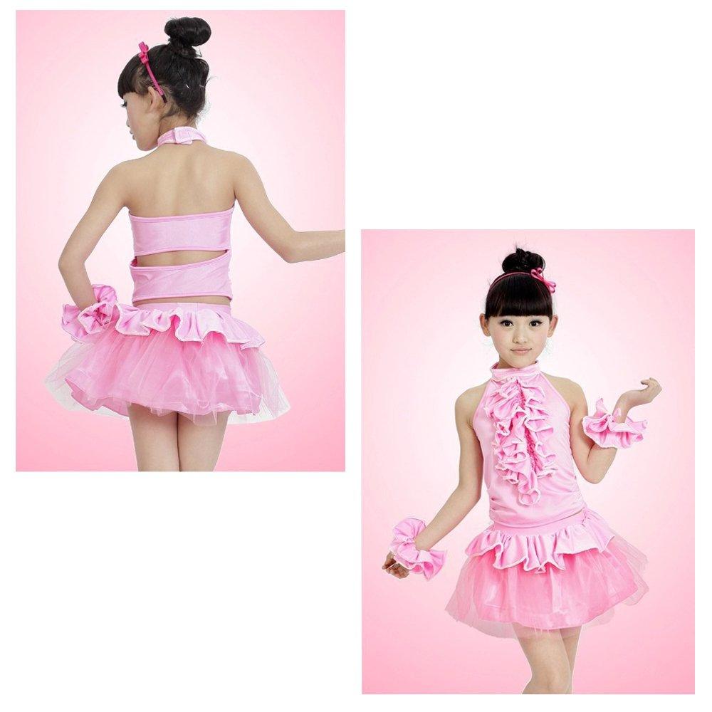 ZEVONDA Niñas Rosa De moda Niñas Pequeños de Ballet Latino de ...