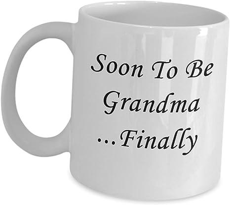 Mug cup soon you become grandma grandmother future pregnancy baby birth
