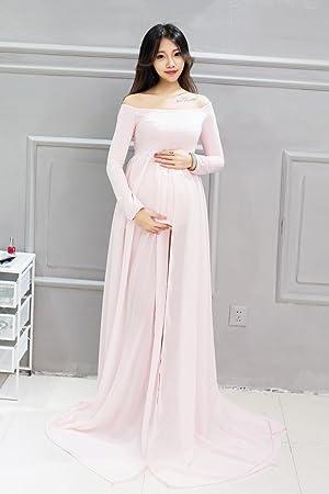love-baby una vez piezas embarazo Photoshoot vestido gasa de longitud completa fotografía de maternidad