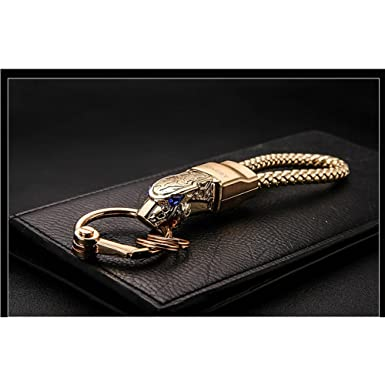 amazon com brand honest high grade men key chain keychainsamazon com brand honest high grade men key chain keychains rhinestones car key ring holder jewelry bag pendant gift genuine leather rope clothing