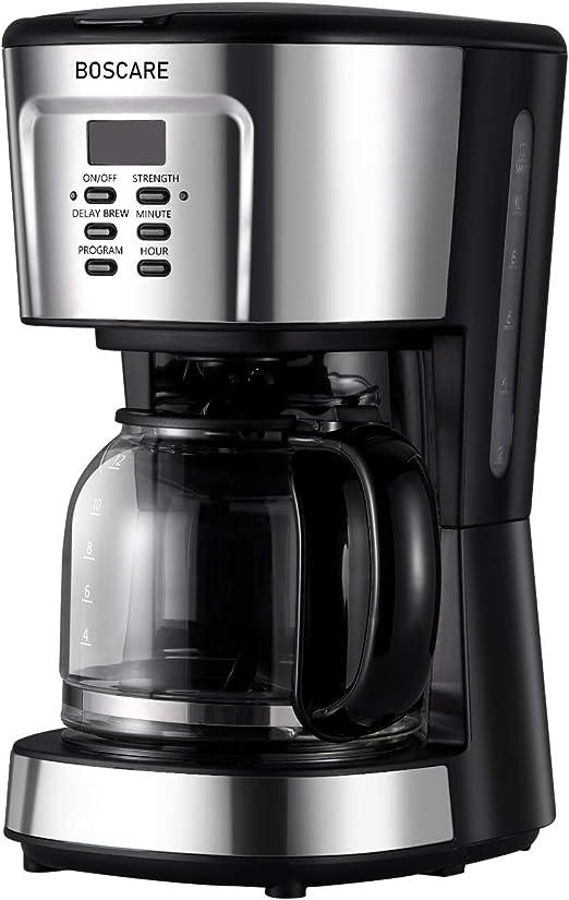 Cafetera programable BOSCARE, 12 tazas de café con filtro de goteo ...