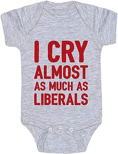 Republican Onesie Ink Trendz I Cry Almost As Much As Liberals Republican Baby Onesie\u00ae One-Piece Bodysuit Conservative Onesie