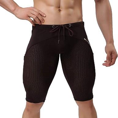 UINGKID Homme Short Sport Compression Base Layer Pantalon Leggings Court Tight Capri Camouflage Yoga Fitness Entra/înement Cyclisme Homme Pantalon Jogging