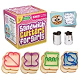 UpChefs Sandwich Cutters for Girls - Create Healthy School Lunches in Minutes with These Fun Bento Lunch box Accessories – Includes Fruit and Vegetable cookie cutters for kids Plus Fun Scratch Notes