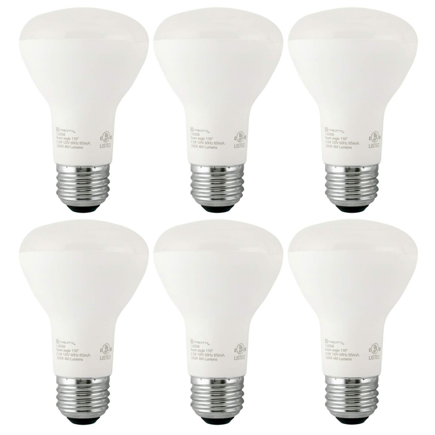 Xtricity BR20 LED Dimmable Light Bulb, 8W (50W Equivalent) 120 Volt, 3000K Soft White, CRI 90+, Wide Flood Recessed Can Lights, Outdoor Indoor, E26 Medium Base, Energy Star, UL Listed (Pack of 6)