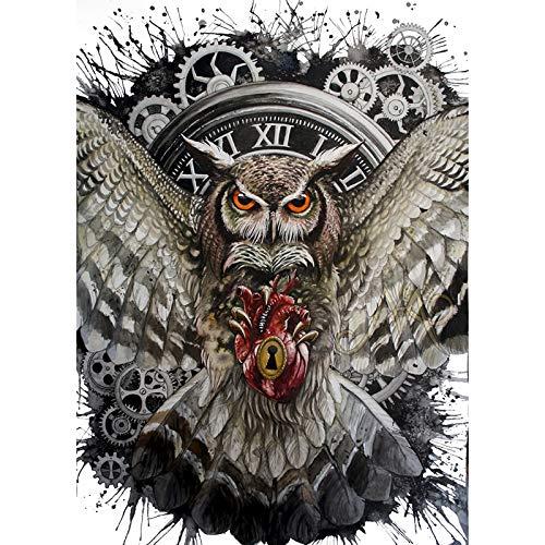 Viet JK Animals - New Diamond Mosaic Cross Stitch Kits Clock Owl Catch A Heart Fantasy Diamond Embroidery Full Diamond Painting Home Decorate Gt - by GTIN - 1 Pcs