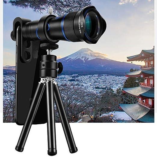 LQLQL Telescopio para teléfono móvil 4K HD con Soporte Smartphone ...