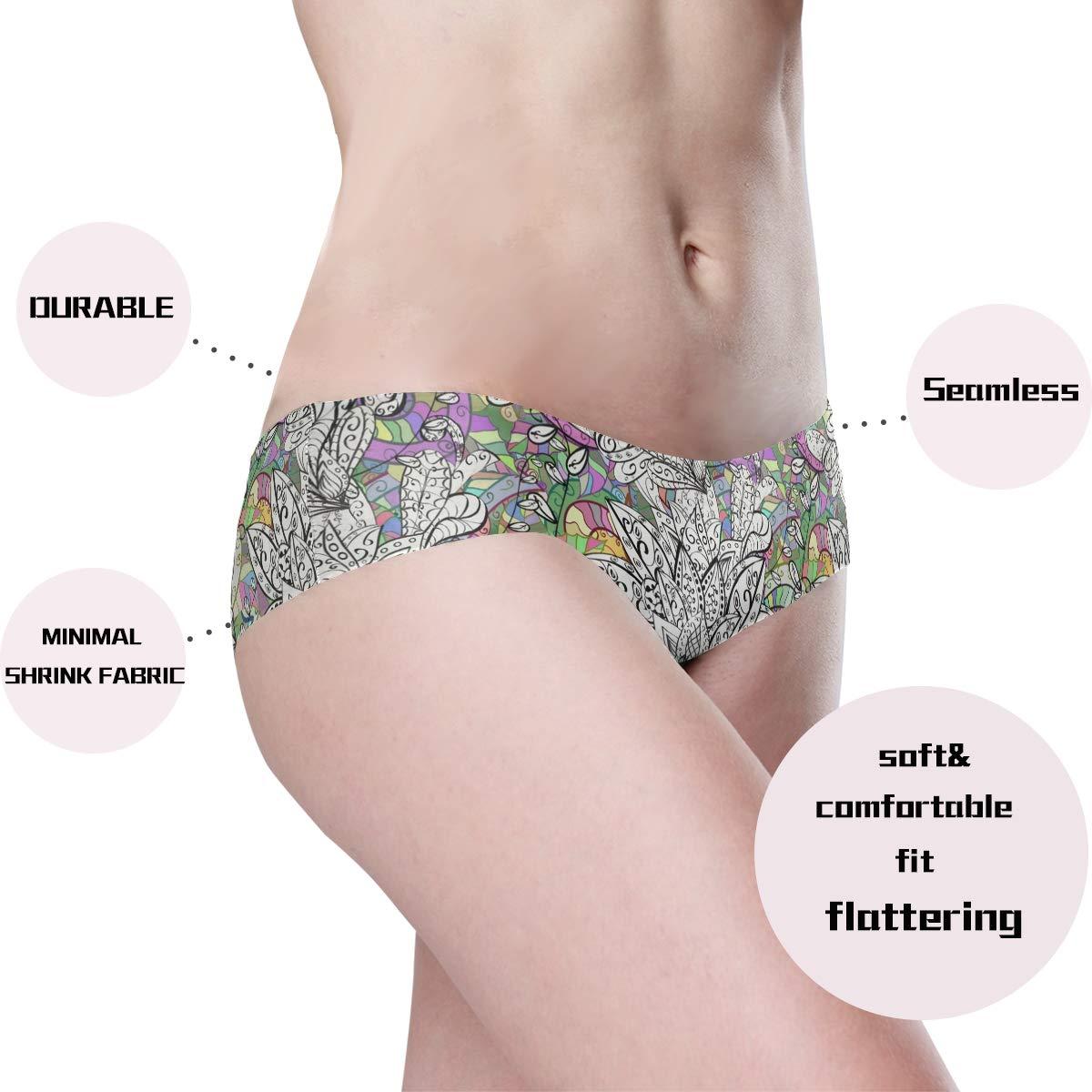 DEZIRO Abstract Floral Womens Panties Seamless Panties Soft Stretch Bikini Underwear