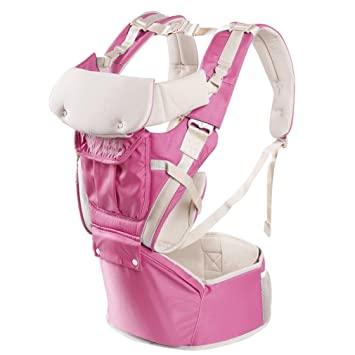 71107a11e6b Amazon.com   Baby Carrier with Hip Seat Multifunction Outdoor Kangaroo Baby  Carrier Sling Backpack New Born Baby Carriage Hipseat Baby Sling Wrap Summer  and ...