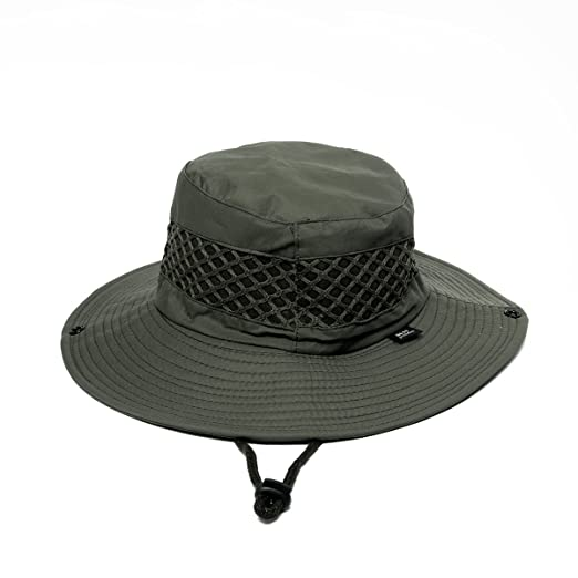 a01ac710d1e5 Men's Sun Hat Summer Mesh Breathable Fisherman Hat Outdoor Boonie Sun Hat  Beach Fishing Sun Hat