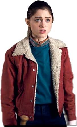 f334e1e5b Spazeup Wheeler Things Shearling Stranger Cotton Jacket at Amazon ...
