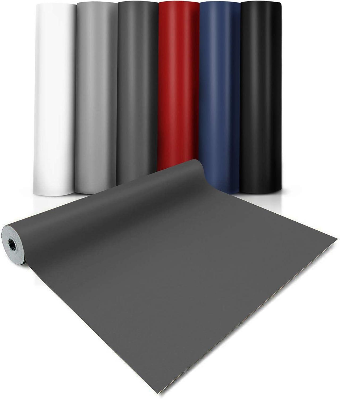 hasta 20 metros Vinilo Antideslizante Suelo Suelo de Vinilo en Rollo PVC Premium Suelo PVC Decorativo 8 Colores 100x100 cm EXPOTOP Antracita casa pura Suelo Laminado Vinilo