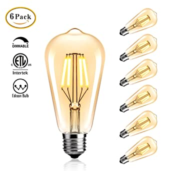 StillCool Vintage Edison LED Birne, LED Edison Glühbirne Dimmable 4W ST64  Squirrel Cage Filament Ideal