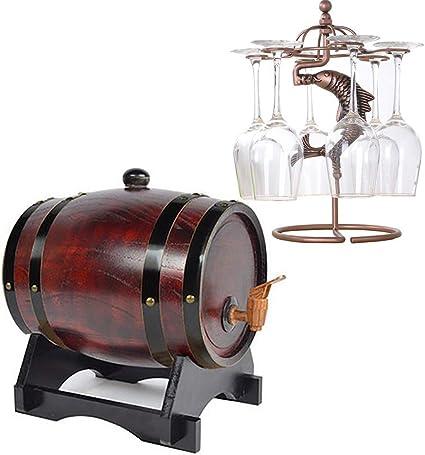 GYPPG Barril Almacenamiento Whisky Wine Spirit con Grifo ...