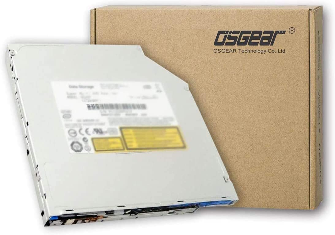 """OSGEAR Internal9.5mmSlimSlot in SATA8xDVDRWCDDVDRWRomBurnerWriterLaptopPCMacOpticalDriveDevice Compatible for Apple 13"""" 15"""" 17"""" inch Macbook Pro Unibody A1278 A1286 A1297"""