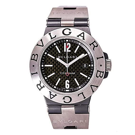 Bvlgari diagono automatic-self-wind Mens Reloj Ti 44 Ta (Certificado) de
