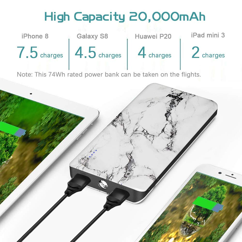 Amazon.com: BONAI Portable Charger POWERNUTS, 20000mAh Power Bank High Capacity 4.0A Input LED Flashlight,External Battery Compatible iPhone Samsung Galaxy ...