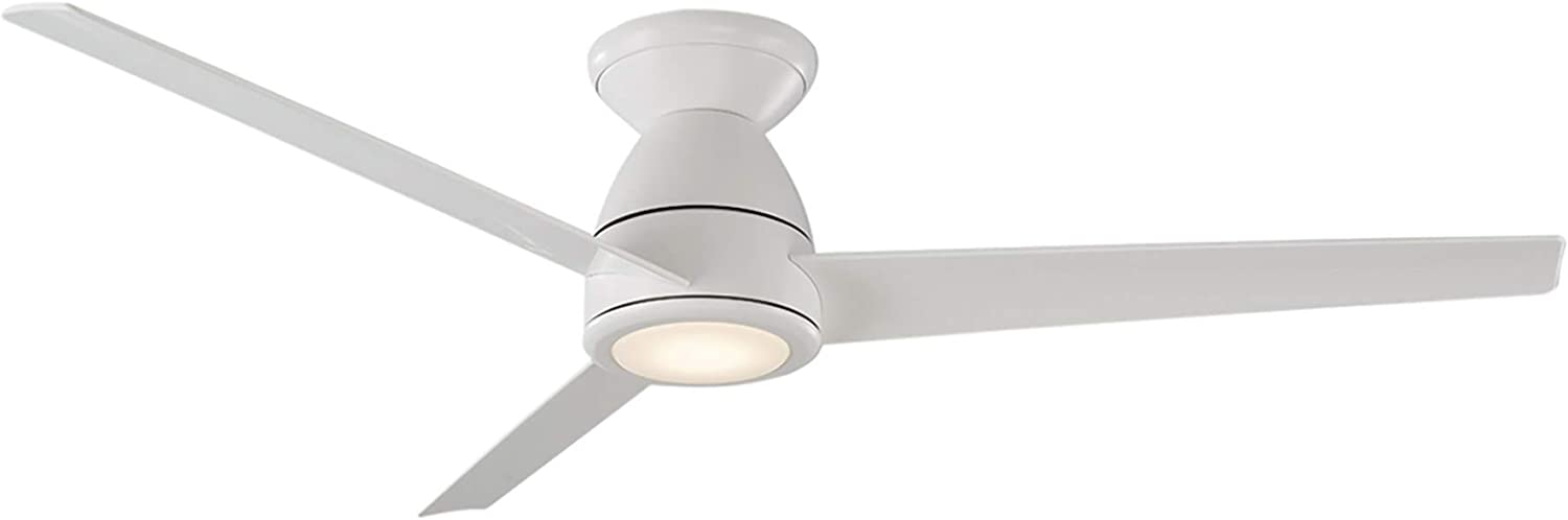 Tip Top 52 in. 3 Blade Matte White Smart Ceiling Fan with 3000K Light Kit and Remote works with iOS/Android app, Alexa, Google Assistant, SmartThings, Control4, & more
