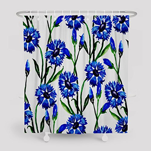 - LILYMUA Waterproof Polyester Fabric Bathroom Shower Curtain, Watercolor Floral Wedding Invitation Card Fashion Beautiful Colorful Art Print 72X78 inch Bath Room Decor Curtains