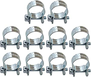 "XtremeAmazing Replacemnt for 3/8"" Fuel Injection Hose Clamps (Pack of 10) 9/16"" - 5/8"" Dia"