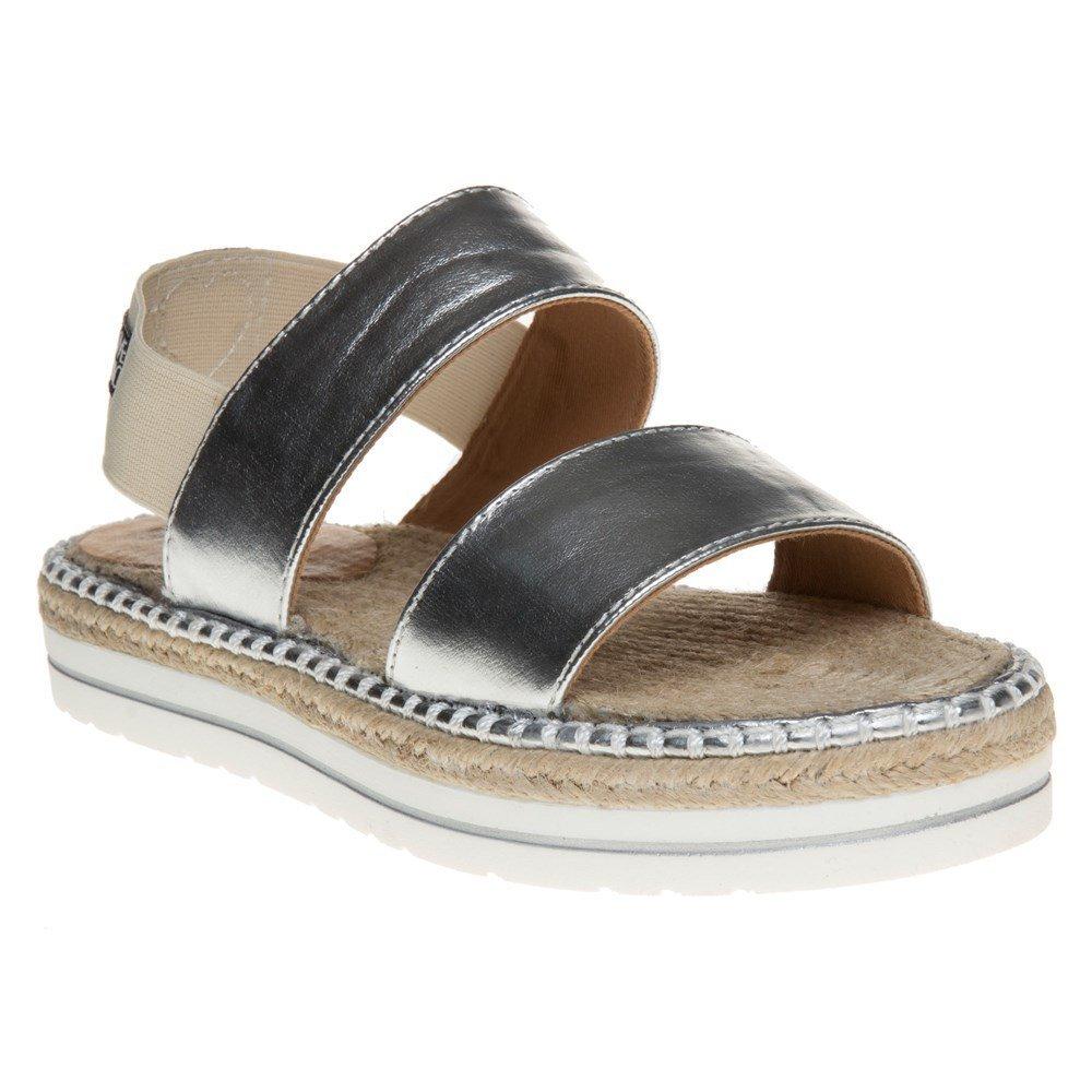 Love Moschino Women's Ja28011c03jc140a Slide Sandal, Light Blue Calf/PU, 38 EU/8 M US