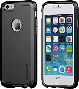 LUVVITT [Ultra Armor] Shock Absorbing Case Best Heavy Duty Dual Layer Tough Cover for Apple iPhone 6 Plus/iPhone 6s Plus Black